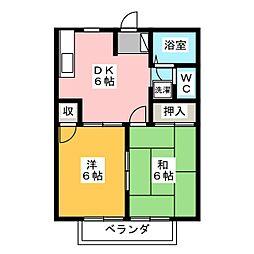 シティハイツTAKA[2階]の間取り