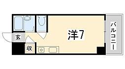 兵庫県姫路市北平野4丁目の賃貸マンションの間取り