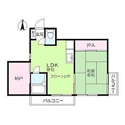 マツイチサンパレス1[4階]の間取り