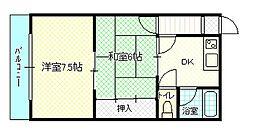 曽根パールマンション[208号室]の間取り