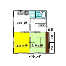 茨城県神栖市知手中央6丁目の賃貸マンションの間取り