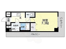 TOYOTOMI STAY PREMIUM 天王寺公園南3 2階1Kの間取り
