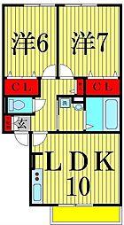 GRAND SOLEIL II[1階]の間取り