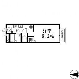 サンシャイン藤川[203号室号室]の間取り
