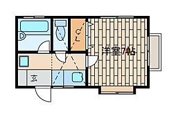 メゾンパセロゼ[2階]の間取り