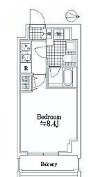 JR京葉線 潮見駅 徒歩3分の賃貸マンション 8階1Kの間取り