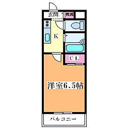 イモーション姫島[801号室]の間取り