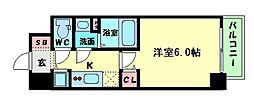 Osaka Metro中央線 本町駅 徒歩10分の賃貸マンション 3階1Kの間取り