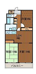 相模大野ハイライズミライズ—未来図3—[3階]の間取り