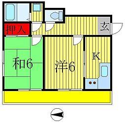 ライオンズマンション金町第2[8階]の間取り