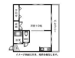 大芝総合ビル2--[303号室]の間取り