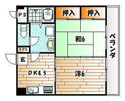 メゾン・ポム[3階]の間取り