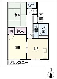 ニュータウンK・I[1階]の間取り