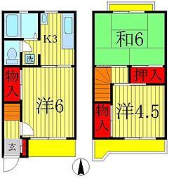 [テラスハウス] 千葉県松戸市栄町5丁目 の賃貸【千葉県 / 松戸市】の間取り