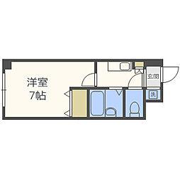 Osaka Metro谷町線 太子橋今市駅 徒歩7分の賃貸マンション 1階1Kの間取り