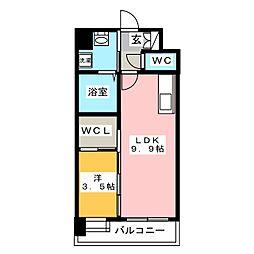 ルッシェ博多駅東[10階]の間取り