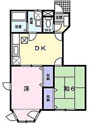 茨城県日立市国分町3丁目の賃貸アパートの間取り