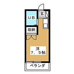 ワンボックス[2階]の間取り