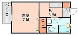 フェアガーデン竹下[1階]の間取り