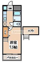 大阪府堺市北区中百舌鳥町5丁の賃貸マンションの間取り