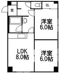 北海道札幌市西区山の手五条1丁目の賃貸マンションの間取り