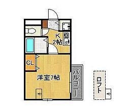 富士ハイツ鳴水[3階]の間取り
