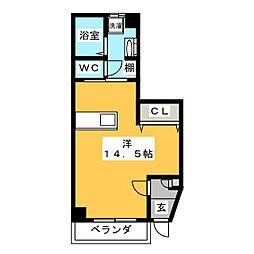メゾンツルマイ[1階]の間取り