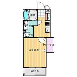 ミオスタンザ[4階]の間取り