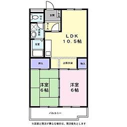クレール二俣川II(本宿町)[303号室]の間取り