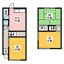 [一戸建] 愛知県春日井市不二ガ丘2丁目 の賃貸【/】の間取り
