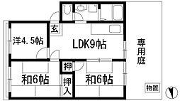 アプリーレ5[1階]の間取り