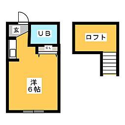 プラザ・ドゥ・エルフ[2階]の間取り