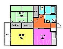 サンハイツノモト[2階]の間取り