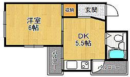 富士家マンション[2階]の間取り