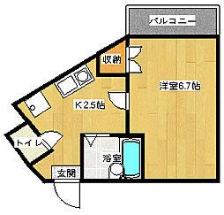 テルセーロパートナーマンション[202号室]の間取り