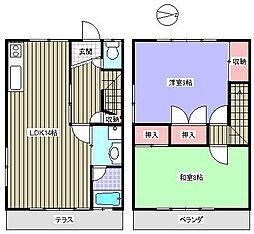 [テラスハウス] 愛知県瀬戸市田中町 の賃貸【/】の間取り