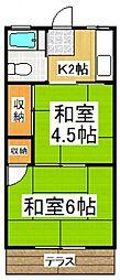 中川荘[2階]の間取り