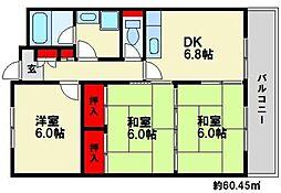 レスピーザ53[6階]の間取り