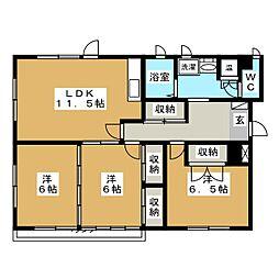 ライブタウン浜田C[1階]の間取り
