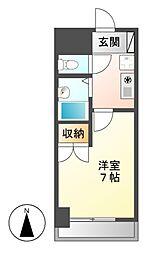愛知県名古屋市中村区中島町3の賃貸マンションの間取り