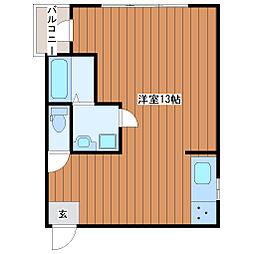 土山マンション[3階]の間取り