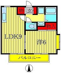 コーポ・ポディウムA[101号室]の間取り