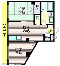 サンシモヤマ[307号室]の間取り