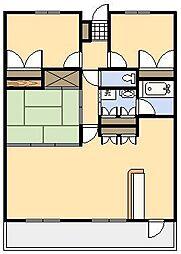 フラワーマンション江平[5号室]の間取り