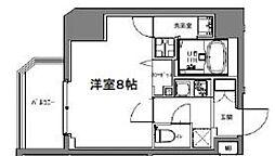 S-RESIDENCE大森山王 8階1Kの間取り