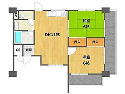 北浦マンション[1階]の間取り
