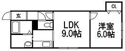 北海道札幌市手稲区曙一条2丁目の賃貸アパートの間取り
