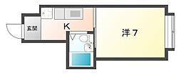 栄ロイヤルマンション[3階]の間取り