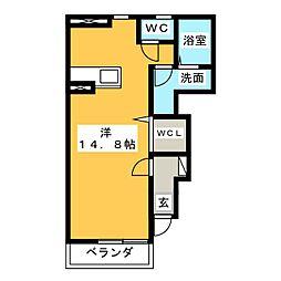 デル・トラーム[1階]の間取り