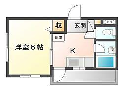 八千代台パーソナルハウスパート6[3階]の間取り